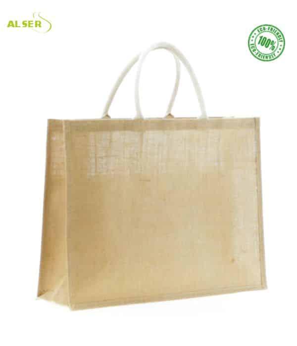 Bolsa Eco Yute personalizada. Bolsa Publicitaria Ecológica parte de atrás