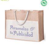 Bolsa Eco Yute personalizada. Bolsa Publicitaria Ecológica