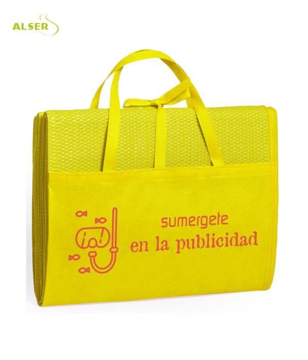 Esterilla de playa publicitaria Amarilla