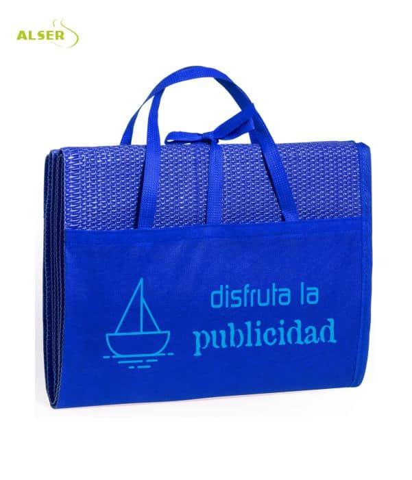 Esterilla de playa publicitaria Azul
