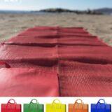 Esterilla de playa publicitaria. Muestra de colores