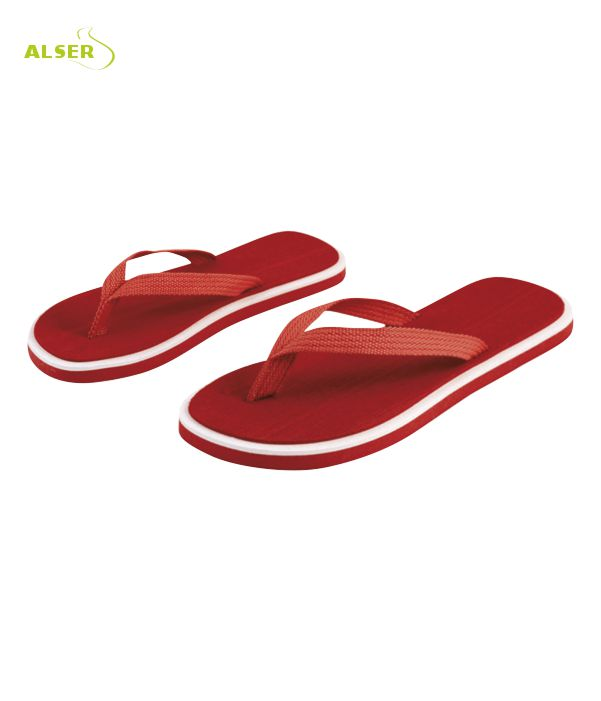 Chanclas Publicitarias, suela gruesa y vistosos colores. rojas