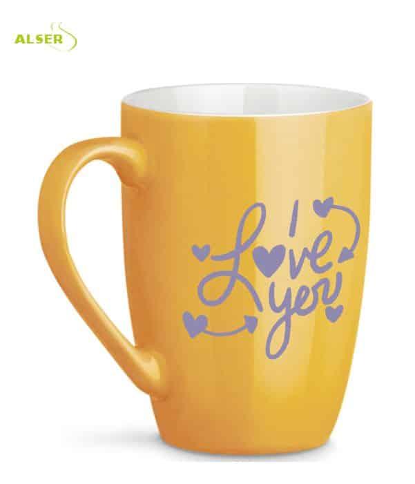 Mug Cerámica para personalizar Amarilla