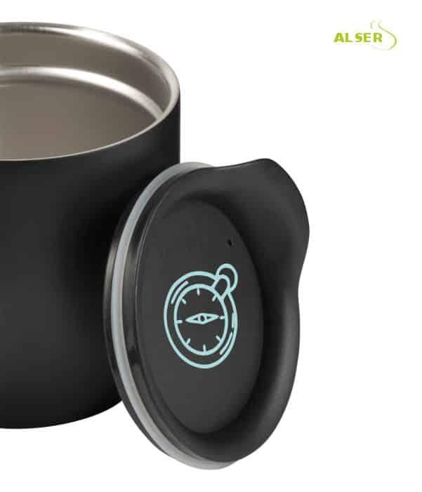 Mug Doble Pared Promocional para publicidad. Detalle Tapa
