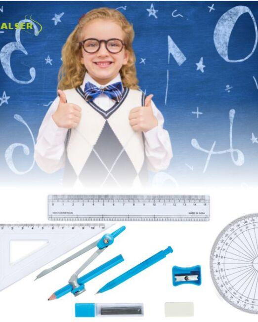 Set escolar geometría para promociones escolare