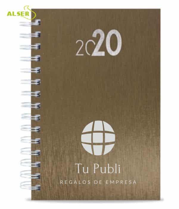 Agenda 2020 Publicitaria para personalizar. marrón