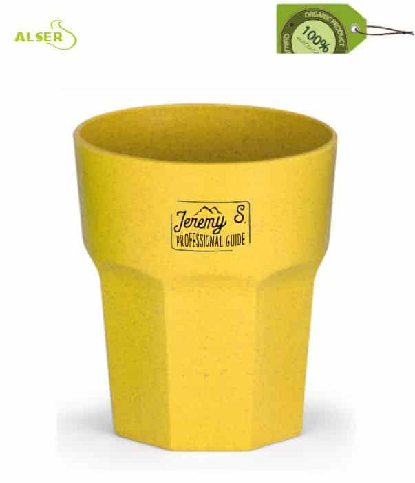 Vaso Publicitario Ecológico. Amarillo