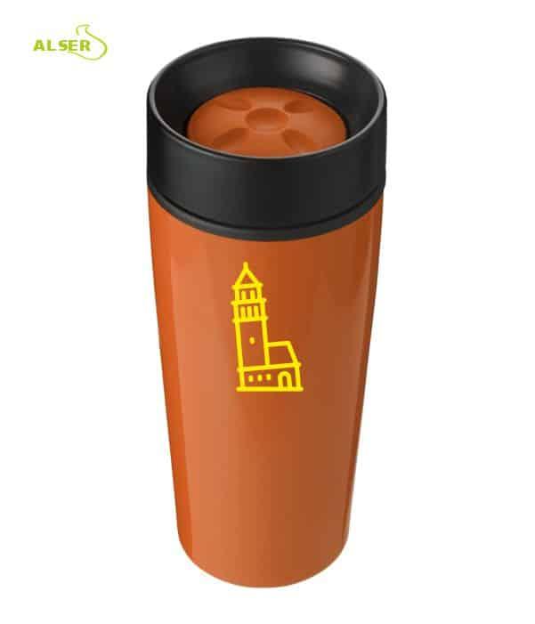 Vaso térmico para publicidad, Naranja