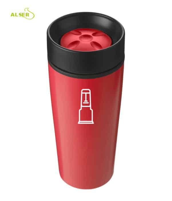 Vaso térmico para publicidad, Rojo