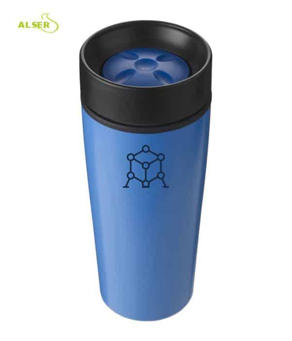 Vaso térmico para publicidad, Azul claro