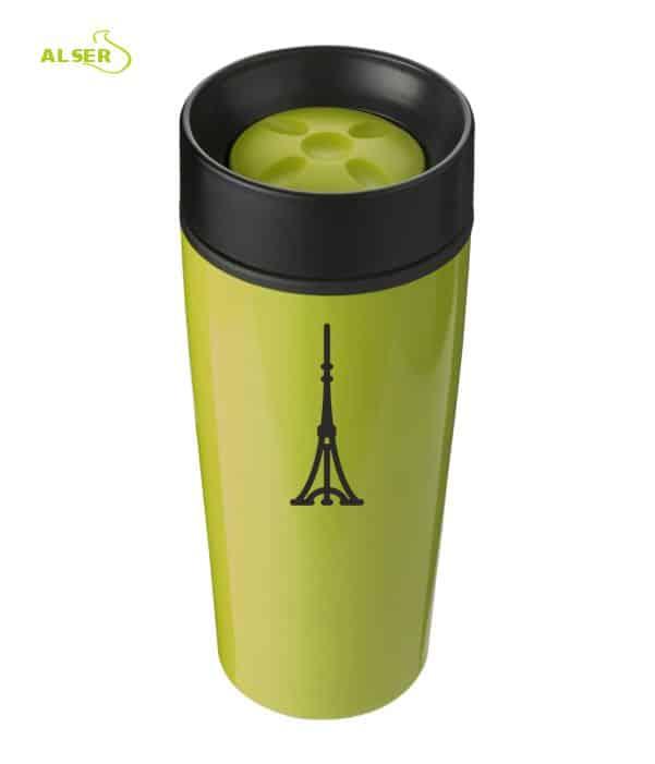 Vaso térmico para publicidad, verde claro