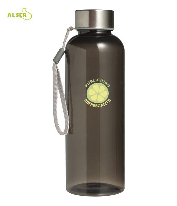 Botella transparente personalizable para regalo de empresa negra