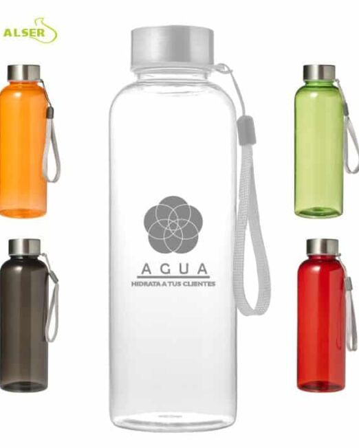 Botella transparente personalizable para regalo de empresa