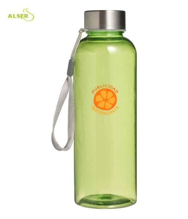 Botella transparente personalizable para regalo de empresa verde claro
