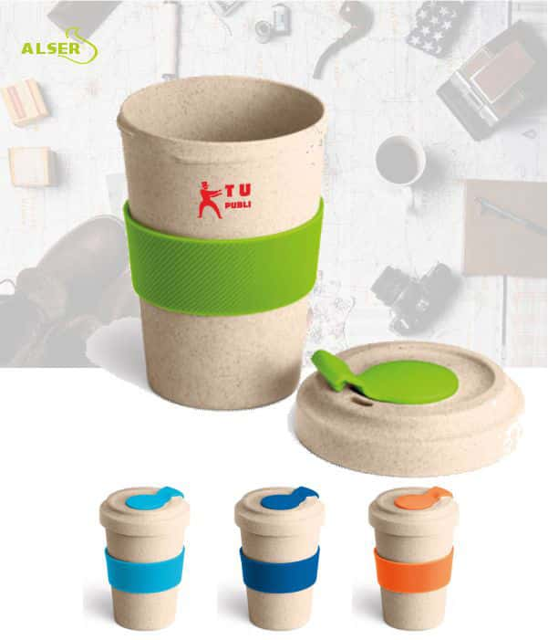 Vaso de viaje en fibra de bambu FIZZ