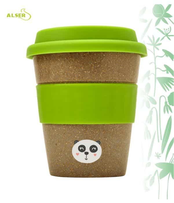 Vaso bambú biodegradable para publicidad verde