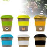 Vaso bambú biodegradable para publicidad. Colores surtidos