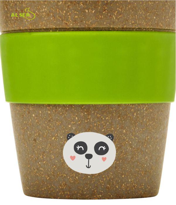 Vaso bambú biodegradable BLUE LAGOON