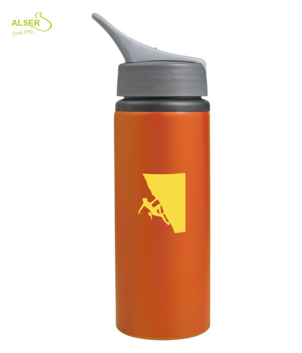 Bidón de Aluminio Personalizado. Naranja