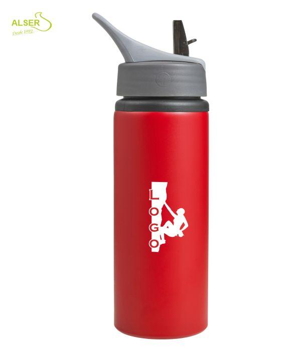Bidón de Aluminio Personalizado. Rojo