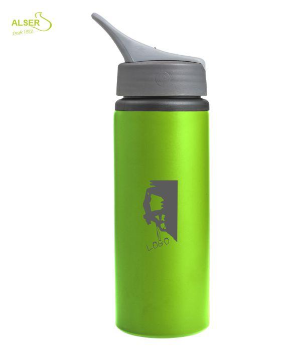 Bidón de Aluminio Personalizado. Verde