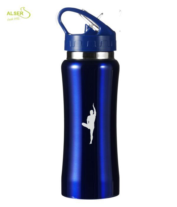 Bidón de metal para regalo promocional. Azul