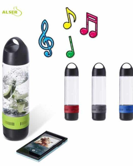Botella de agua con Altavoz bluetooth. Colores