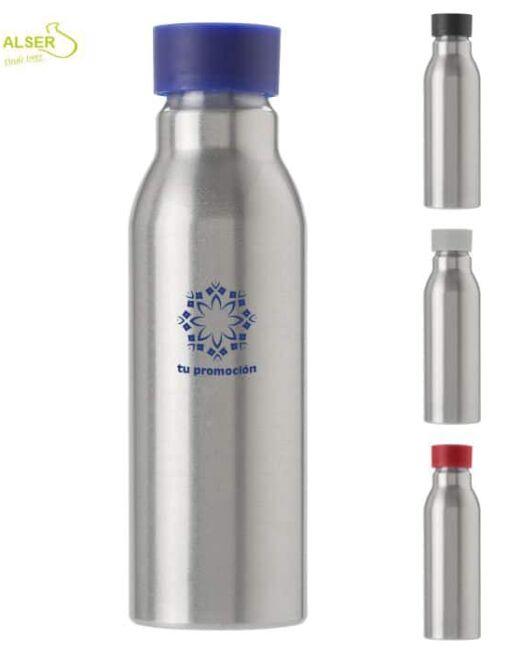 Botella aluminio personalizada . 4 colores