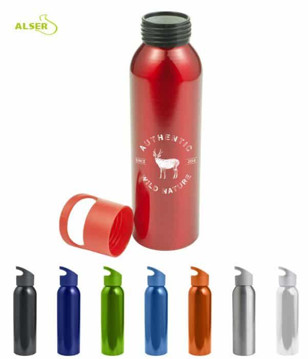Botella para excursiones de metal. Botella personalizable. Colores