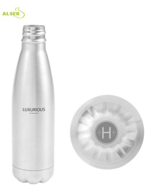 Botella de Acero Inoxidable para publicidad plata