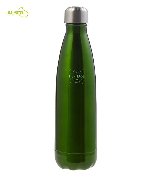 Botella de Acero Inoxidable para publicidad verde