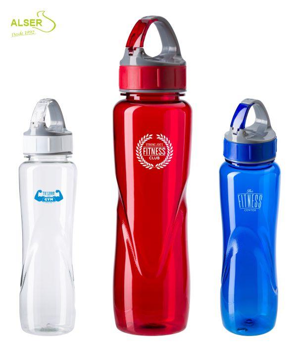Bidón Deportivo para Publicidad >> Bidones Personalizados. Colores Rojo, Azul y Blanco