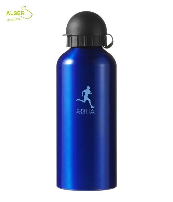 Bidón en aluminio anonizado para publicidad Azul