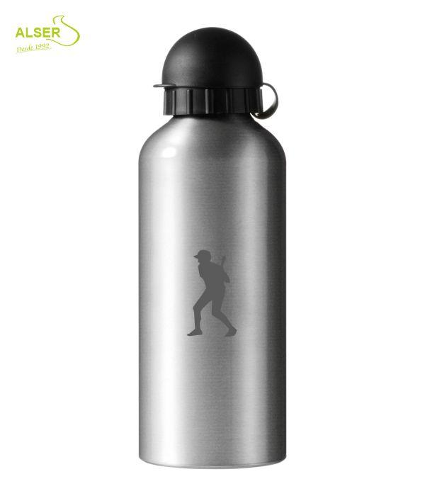 Bidón en aluminio anonizado para publicidad plata