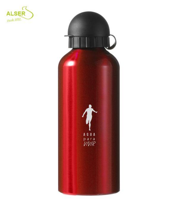 Bidón en aluminio anonizado para publicidad Rojo