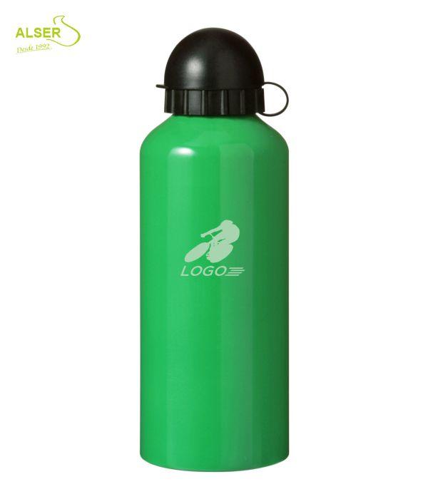 Bidón en aluminio anonizado para publicidad verde