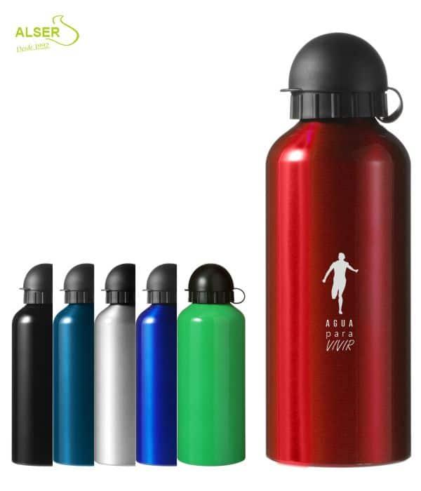 Bidón en aluminio anonizado para publicidad. Seis colores