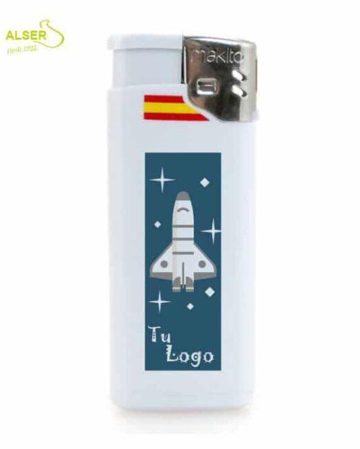 Encendedor mini detalle bandera española. Encendedores personalizados