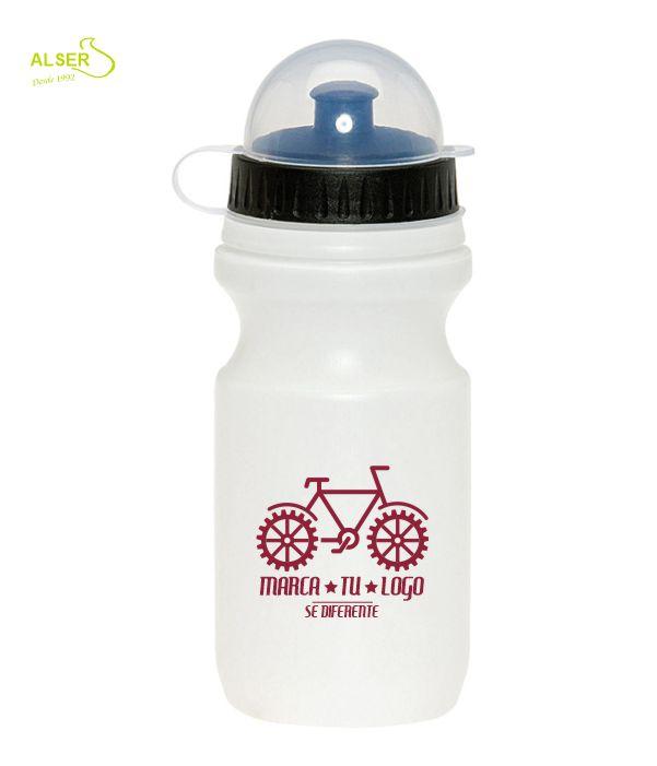 Bidón ciclismo personalizado Blanco