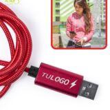 Cable cargador tipo-C 100 cm personalizado con logo. detalle