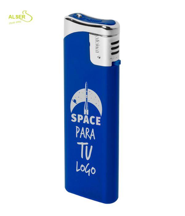 Encendedor plano personalizable para publicidad. Azul