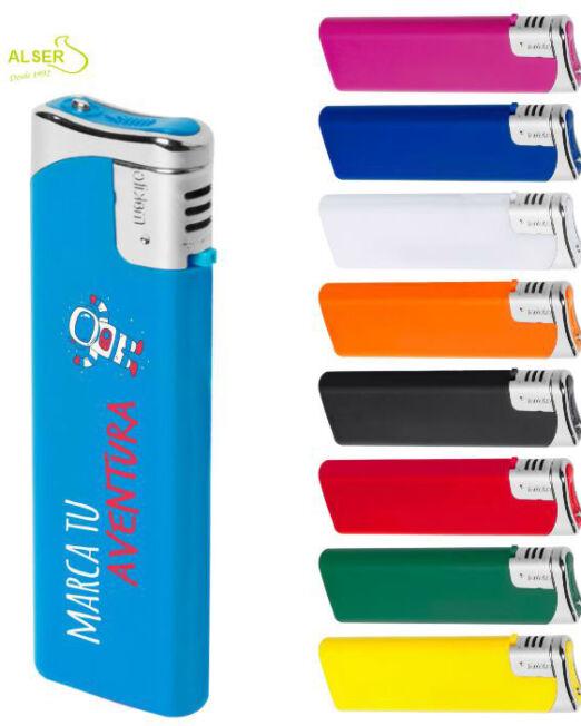 Encendedor plano personalizable para publicidad. Colores