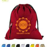 mochila de cordones para publicidad. Colores