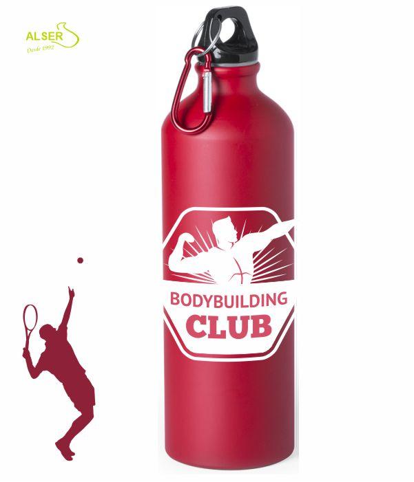 bidon de aluminio 800 ml para publicidad rojo