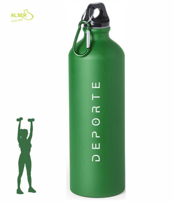 bidon de aluminio 800 ml para publicidad verde