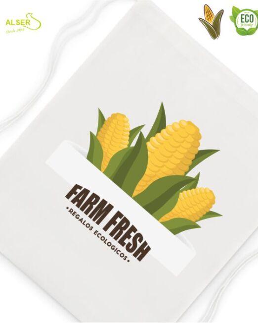 mochila cuerdas ecologica personalizable para publicidad de empresa