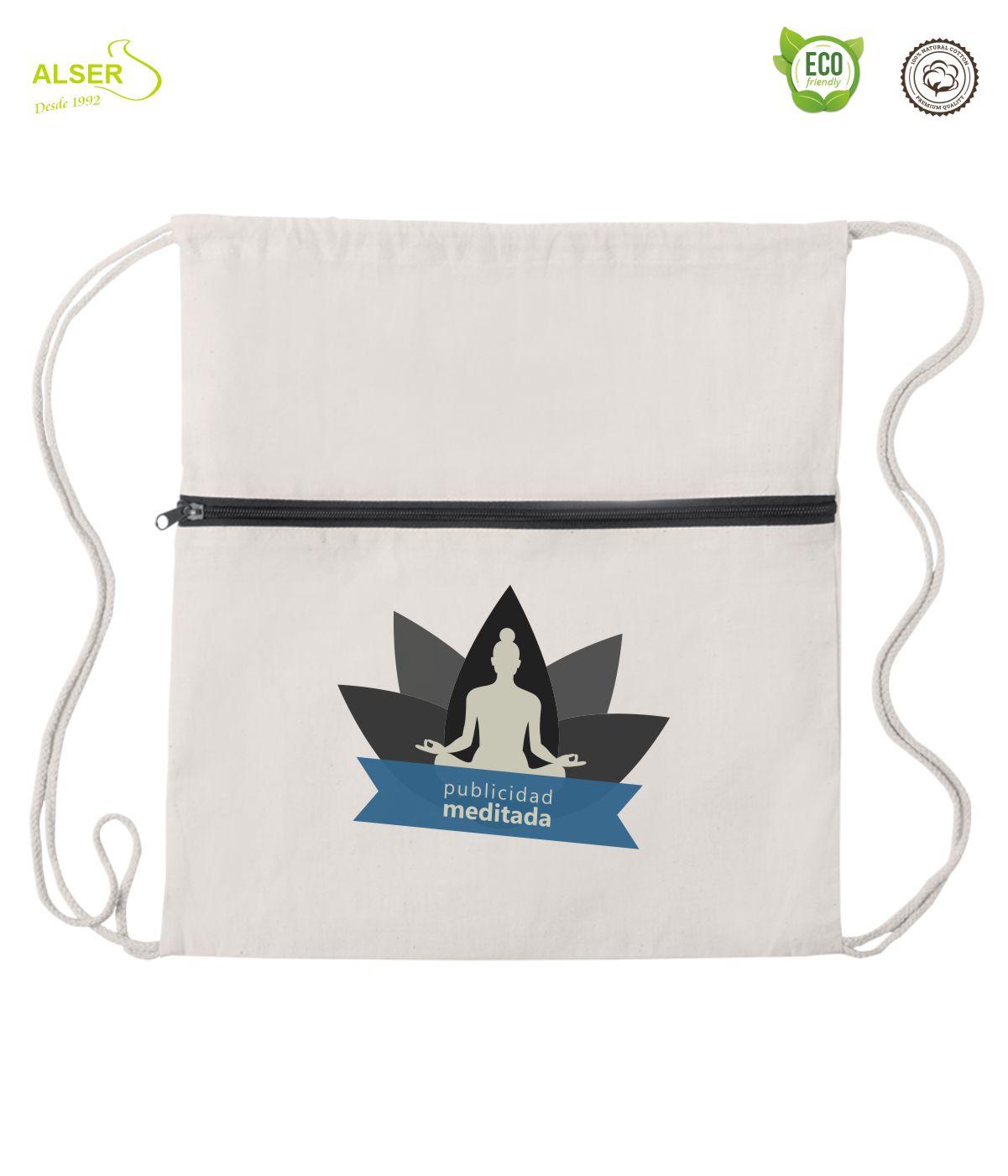 mochila de cuerdas con cremallera cuatro colores de cremallera negra