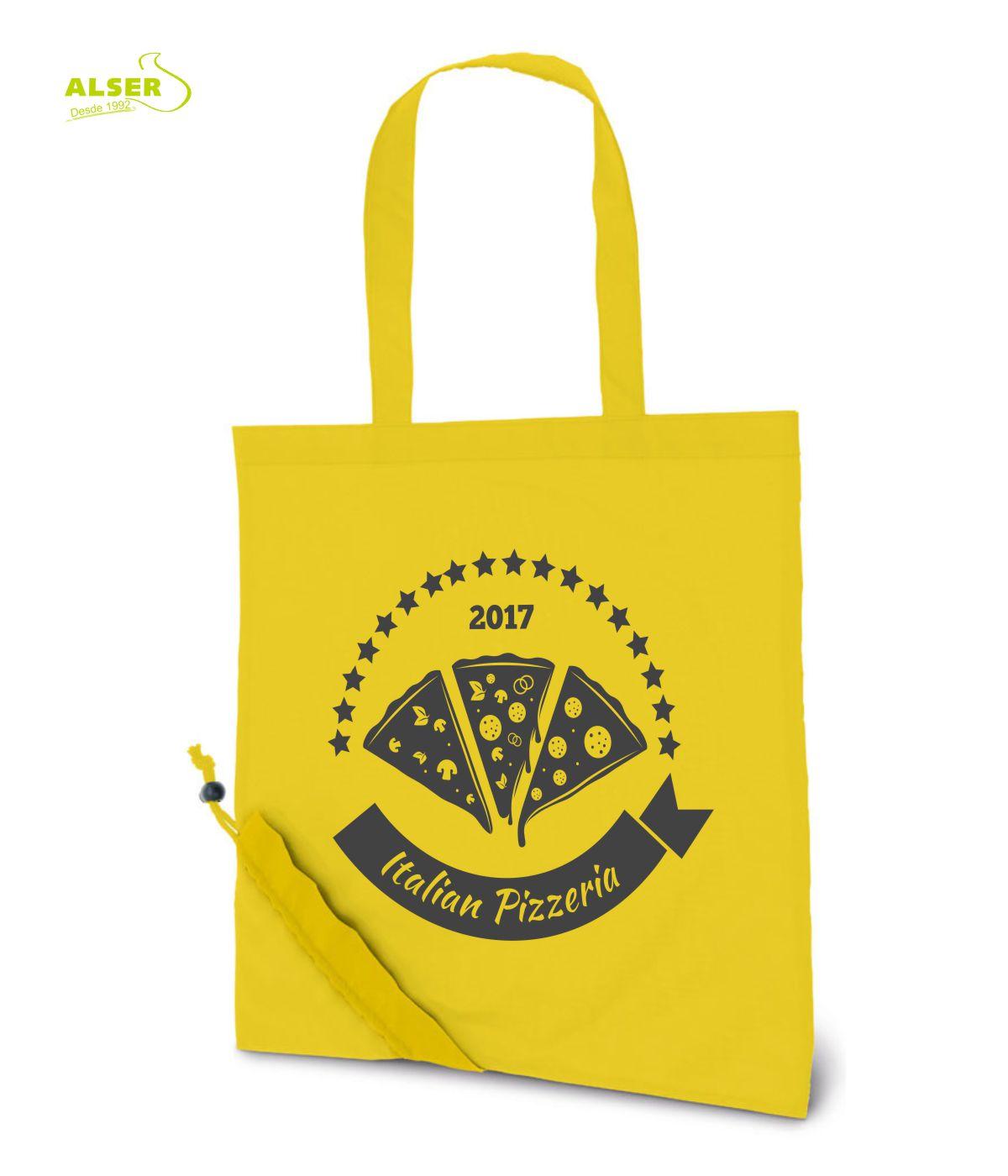 Bolsa Peglable Publicitaria para la compra. Amarilla