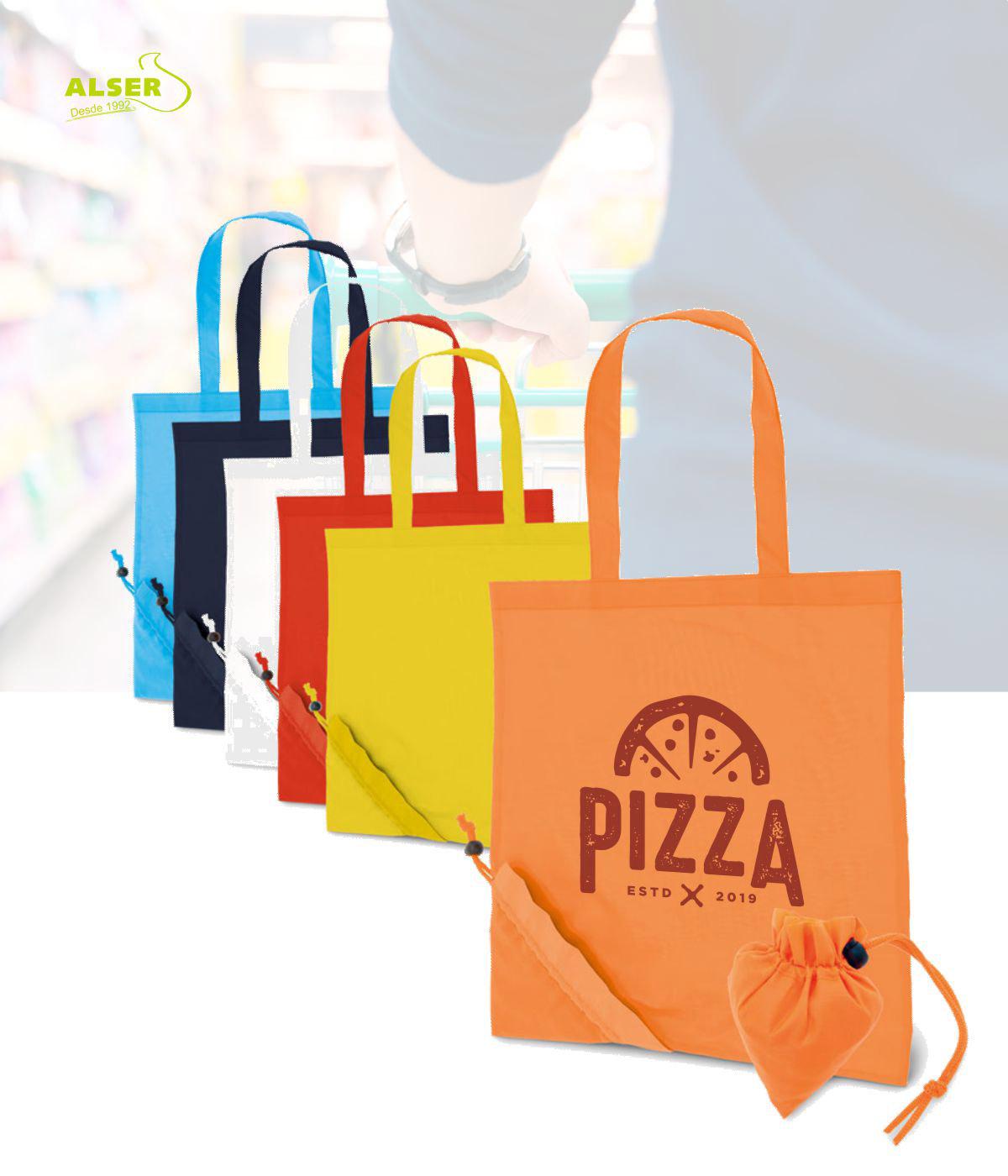 Bolsa Peglable Publicitaria para la compra. Colores Variados