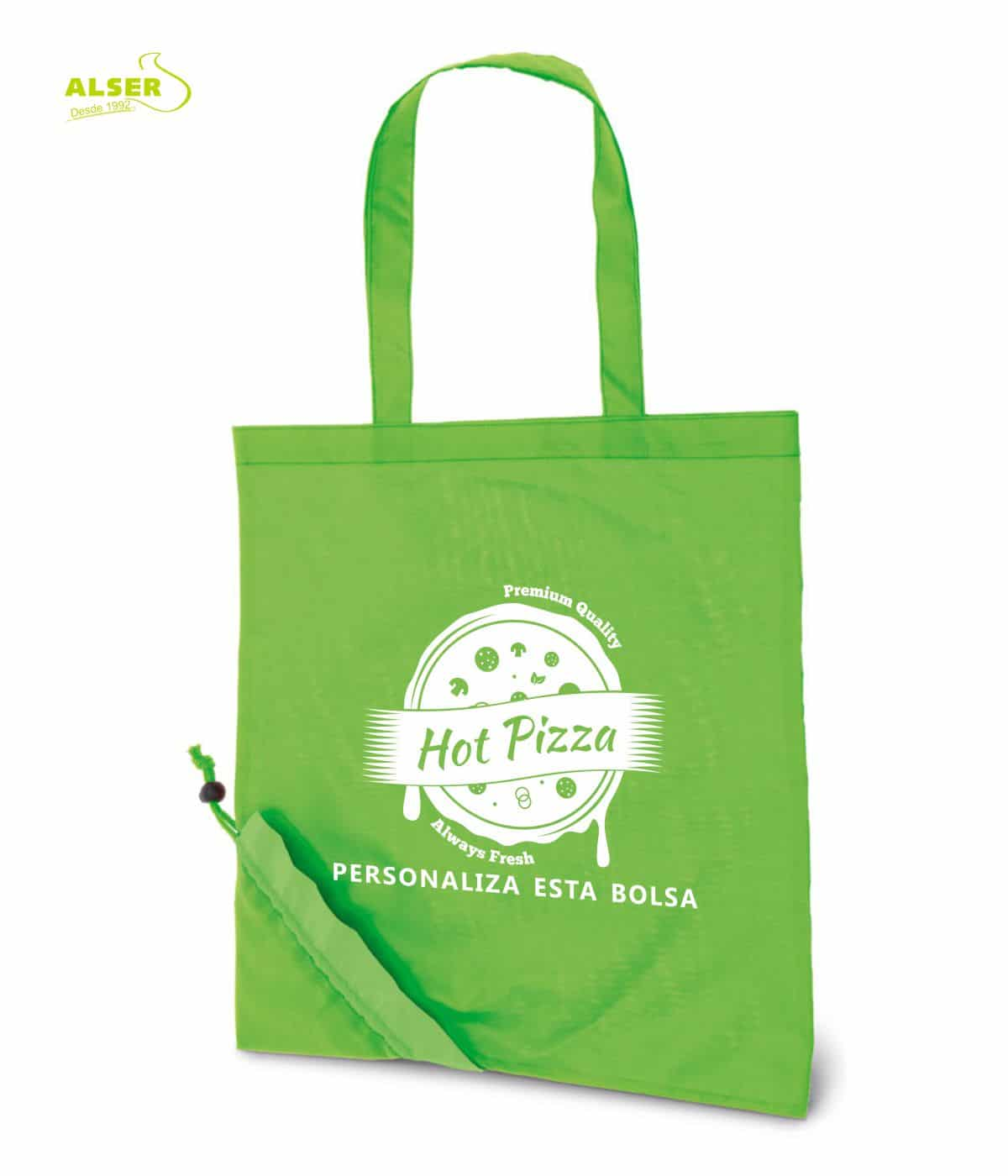 Bolsa Peglable Publicitaria para la compra. Verde